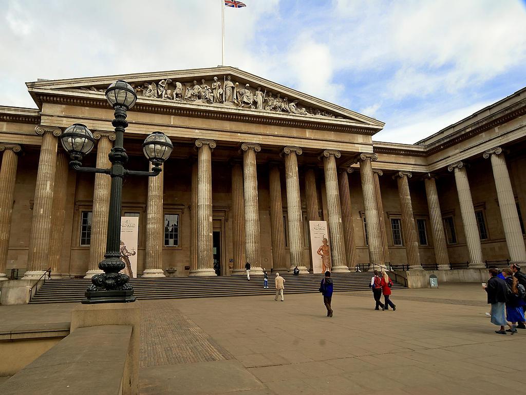Η είσοδος του Βρετανικού μουσείου photocredits:wikipedia