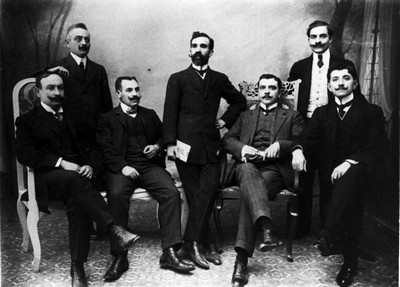 La Boheme cultural group, ca. 1905. Collection of Mrs. Fiora Modiano. Rights: The Jewish Museum of Greece